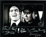 Richard Kiel and Caroline Munro Genuine autograph 10x8, 10288